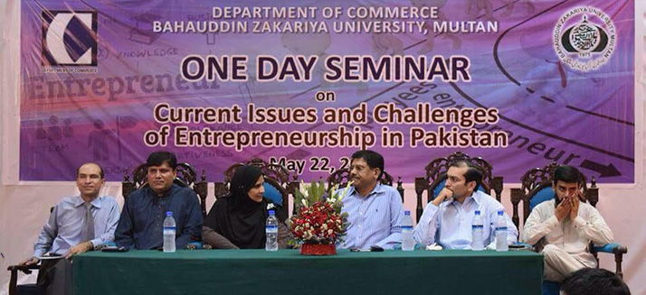 One Day Seminar on Current Issues and Challenges of Entrepreneurship in Pakistan